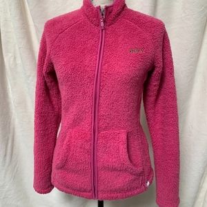 Roxy Fleece Jacket Girls Size 14 Bright Pink